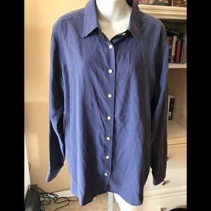 Orvis 100% Silk Dress Shirt